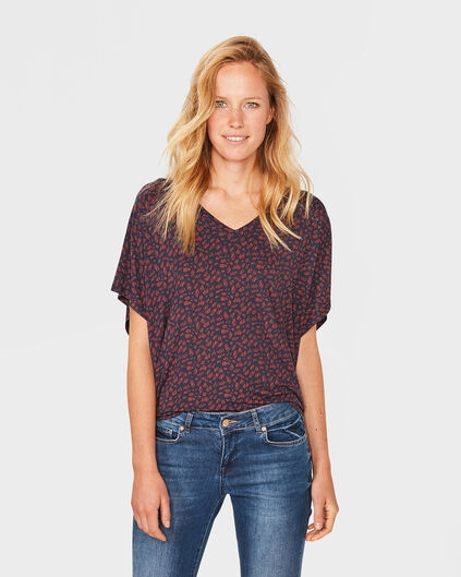 DAMES PRINTED TOP Blauw