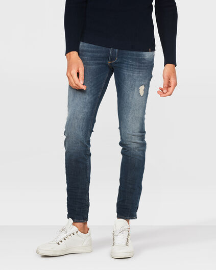 HEREN SKINNY TAPPERED 360º STRETCH JEANS Blauw