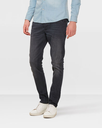 HEREN SKINNY TAPERED STRETCH BROEK Donkerblauw