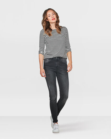 DAMES HIGH RISE SKINNY HIGH STRETCH JEANS Donkergrijs