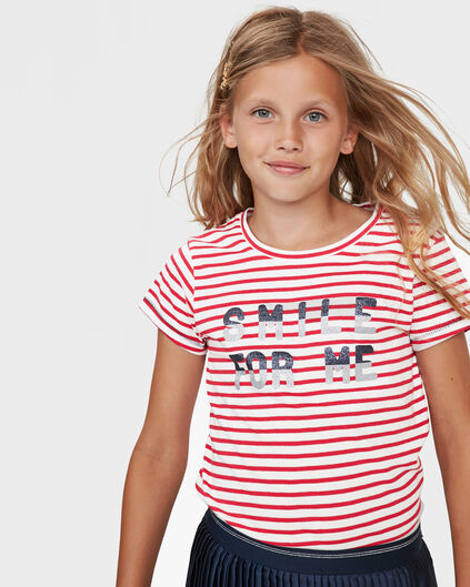 MEISJES SMILE FOR YOU PRINT T-SHIRT Rood
