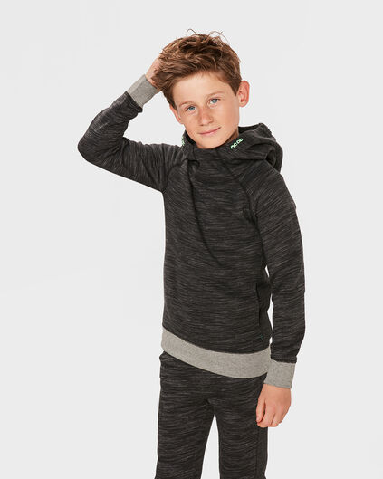 JONGENS HOODED SWEATER Zwart