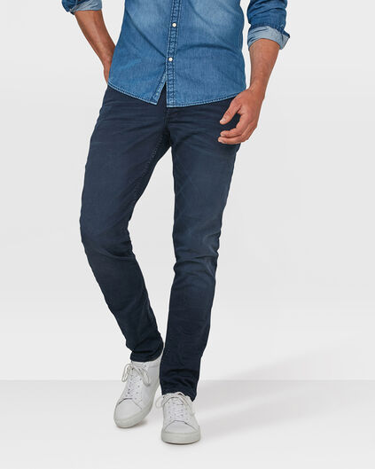 HEREN SKINNY TAPERED STRETCH BROEK Blauw