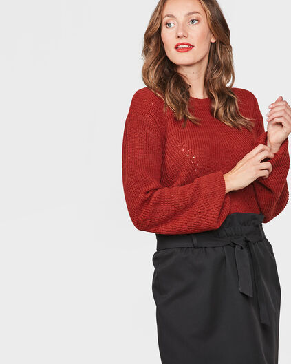 DAMES KNITTED TRUI Roestbruin