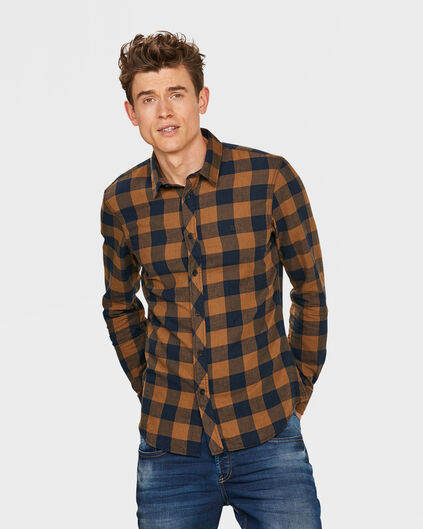 HEREN SLIM FIT CHECKED OVERHEMD All-over print
