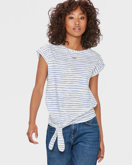 DAMES STRIPED T-SHIRT Blauw