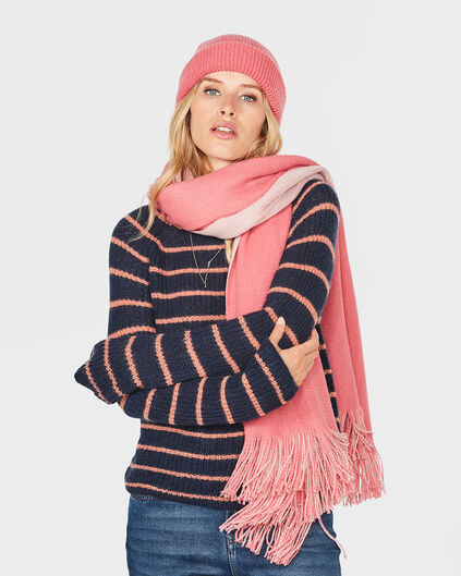 DAMES FRAYED-EDGE SJAAL Roze