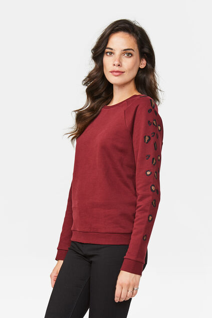 Dames sweater Donkerrood