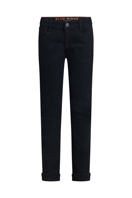 Jongens regular fit jeans met stretch Zwart