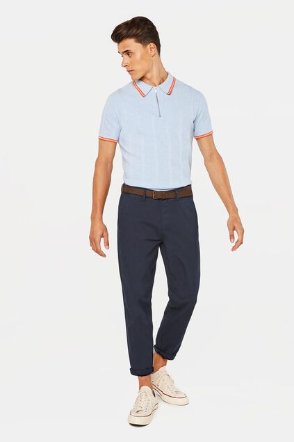 Heren loose fit chino Donkerblauw
