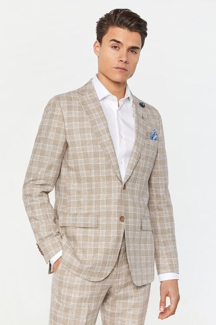 Heren regular fit geruite blazer Clinton All-over print
