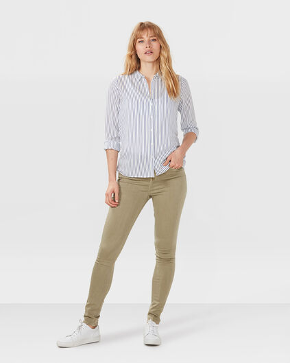 DAMES HIGH RISE SKINNY HIGH STRETCH JEANS Olijfgroen