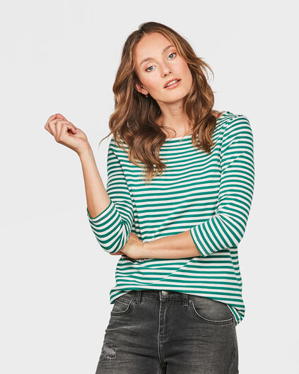 DAMES STRIPED SHIRT Mosgroen