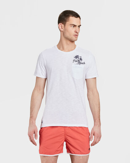 HEREN PALM BEACH PRINT T-SHIRT Wit