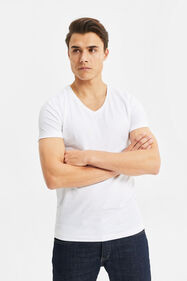 Heren invisible T-shirt, 2-pack_Heren invisible T-shirt, 2-pack, Wit