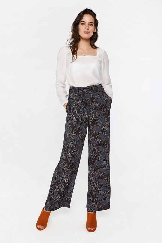 Dames high waist broek met dessin All-over print