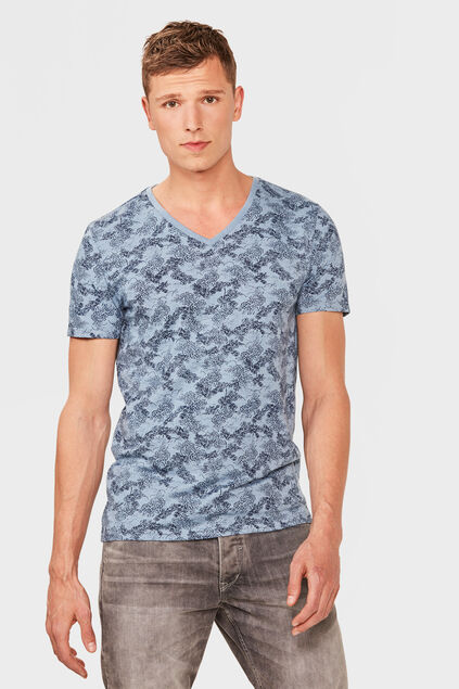 HEREN GRAPHIC PRINT V-NECK Lichtblauw