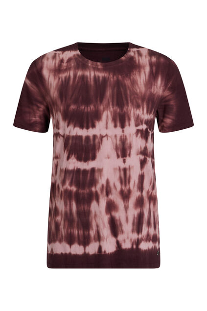 Heren tie-dye T-shirt Bordeauxrood