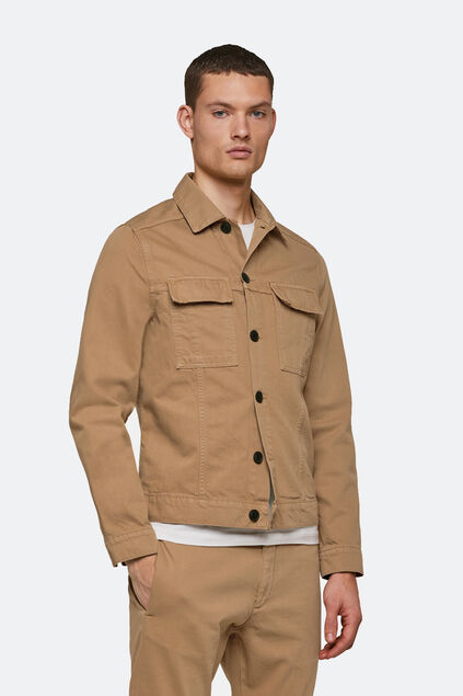 Heren denim jacket Beige