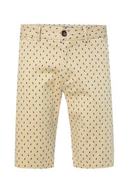 Heren chinoshort met stretch en dessin_Heren chinoshort met stretch en dessin, Beige