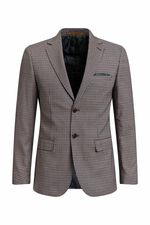 Heren slim fit geruite blazer, Christoph All-over print