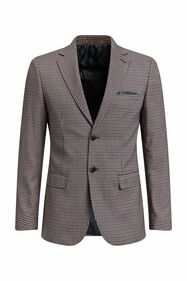 Heren slim fit geruite blazer, Christoph_Heren slim fit geruite blazer, Christoph, All-over print