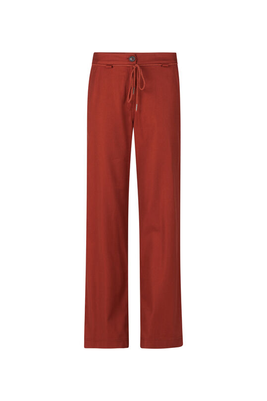 Dames relaxed fit pantalon Roestbruin