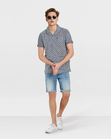 HEREN REGULAR FIT DENIM SHORT Lichtblauw