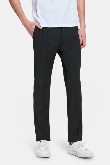 Heren slim fit pantalon, Dali Zwart