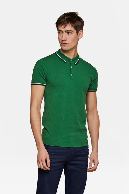 Heren knit polo Groen