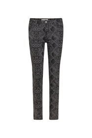 Dames mid rise slim fit jeans_Dames mid rise slim fit jeans, Donkergrijs