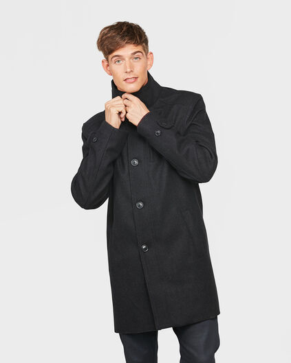 HEREN WOOL COAT Grijs