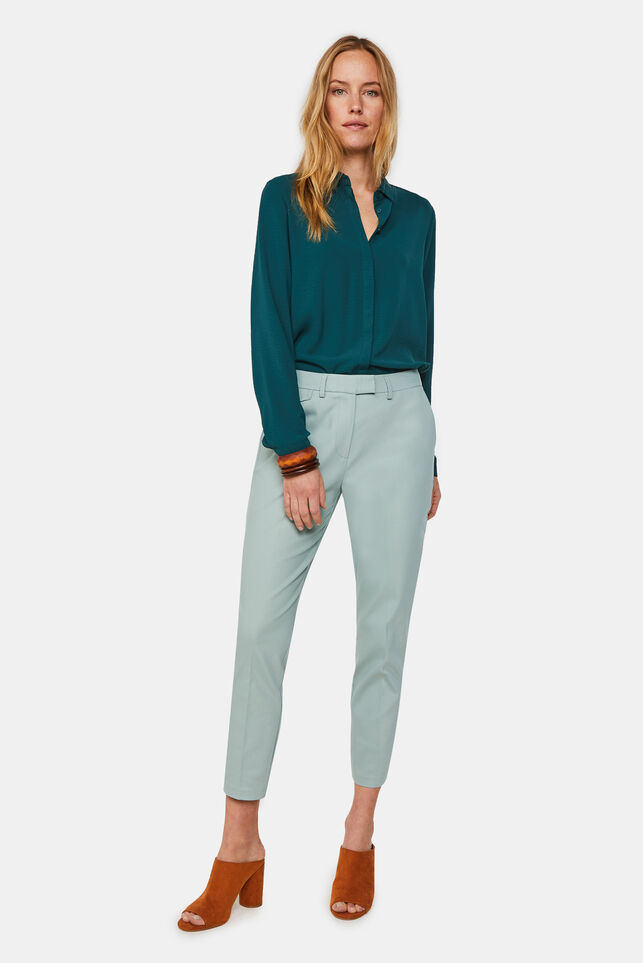 Dames slim fit chino Mintgroen
