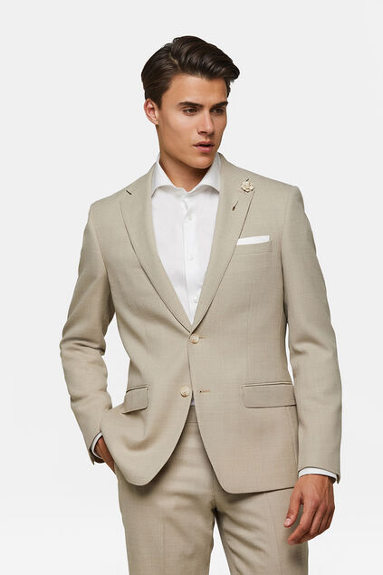 HEREN SLIM FIT BLAZER LANARK Beige