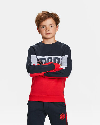 JONGENS SPORT TEAM PRINT SWEATER Rood