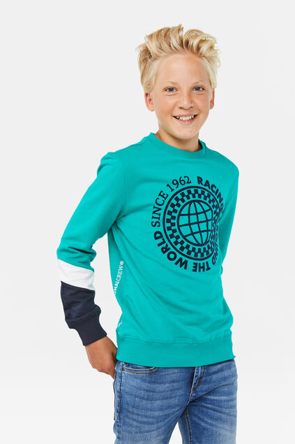 Jongens geprinte sweater Groen