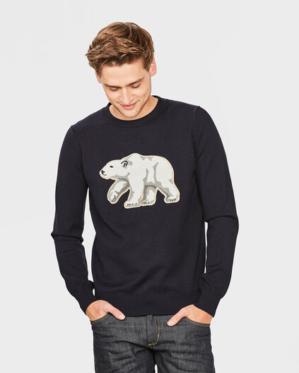 HEREN POLAR SWEATER Donkerblauw