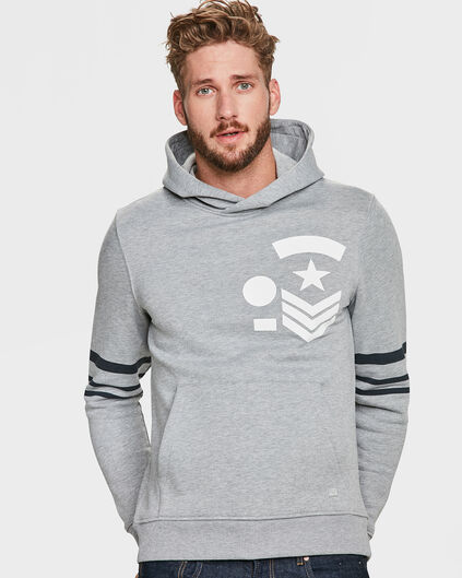 HEREN ARMY HOODED SWEATER Grijs