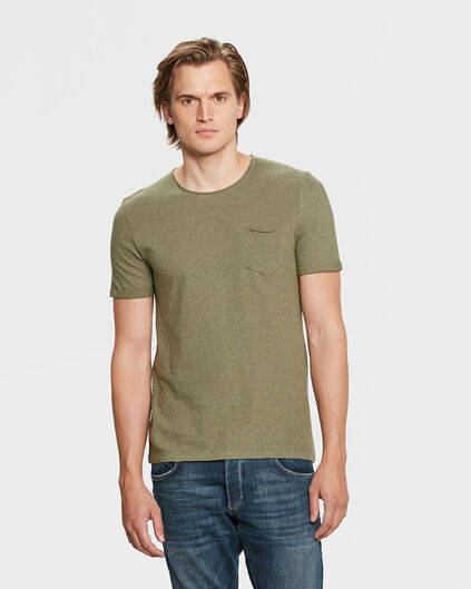 HEREN CHEST POCKET T-SHIRT Olijfgroen
