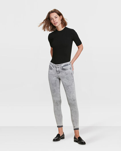 DAMES MID RISE SUPER SKINNY HIGH STRETCH JEANS Lichtgrijs
