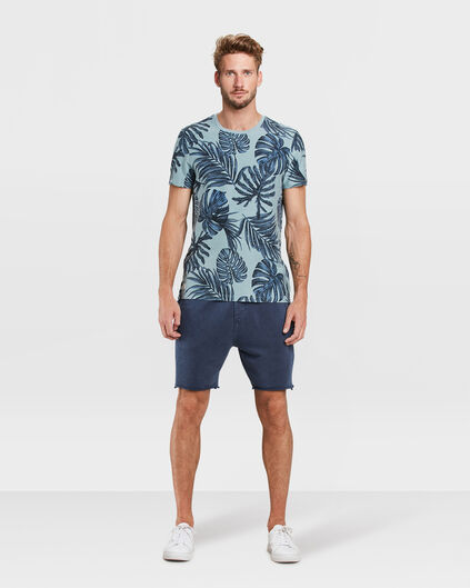 HEREN LOOSE FIT SWEATSHORT Marineblauw
