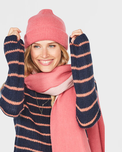 DAMES KNITTED BEANIE Roze