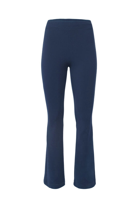 Dames slim fit flared legging Donkerblauw