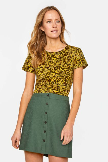 Dames T-shirt met dierendessin All-over print