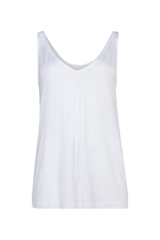 Dames Tencel singlet Wit