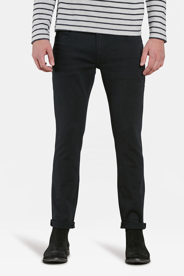 Heren slim fit jeans met comfort stretch Zwart