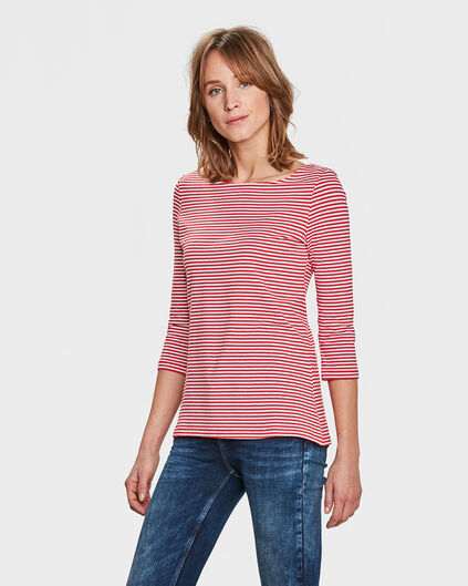 DAMES STRIPED SHIRT Rood