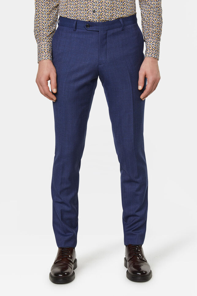 Slim fit pantalon Matera Blauw