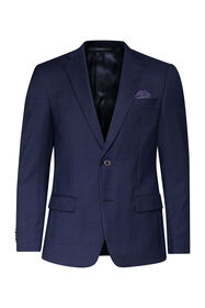 Heren regular fit blazer Merrill_Heren regular fit blazer Merrill, Marineblauw