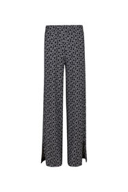 Dames straight fit dessin broek_Dames straight fit dessin broek, Zwart